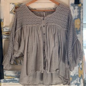 Free People blouse.  Size S.  Tan